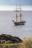 Oude klassieke houten varende boot Stock Afbeelding