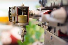 Oude klassieke motor Royalty-vrije Stock Afbeeldingen