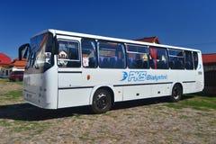 Oude klassieke Poolse bus Royalty-vrije Stock Afbeeldingen