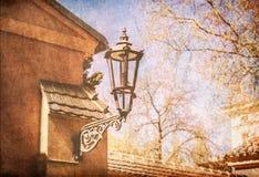 Oude Klassieke Straatlantaarn Stock Fotografie