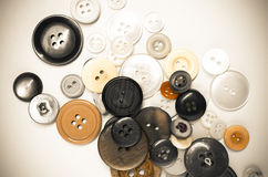 Oude kledingsknopen Stock Foto's