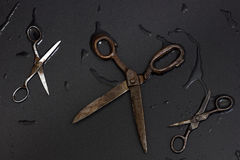 Oude kleermakersschaar Royalty-vrije Stock Afbeeldingen