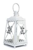 Oude kleine die lantaarn op wit wordt geïsoleerd Royalty-vrije Stock Afbeeldingen