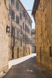 Oude kleine straten van San-Marino Stock Afbeeldingen