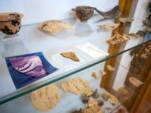 Oude kleipot in een Grieks museum royalty-vrije stock foto's