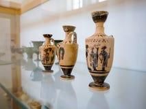 Oude kleipot in een Grieks museum royalty-vrije stock foto