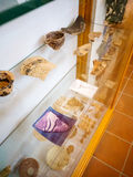 Oude kleipot in een Grieks museum royalty-vrije stock afbeelding
