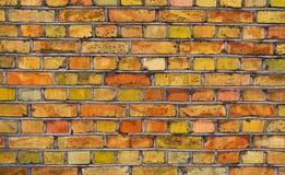 Oude kleurenstructuur van een bakstenen muur. Stock Foto