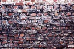 Oude kleurrijke bakstenen muur royalty-vrije stock fotografie