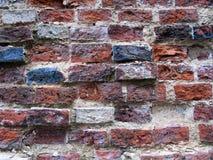 Oude kleurrijke bakstenen muurtextuur Stock Foto