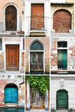 Oude kleurrijke deuren Royalty-vrije Stock Afbeelding