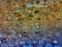 Oude kleurrijke HDR-muur Royalty-vrije Stock Afbeeldingen