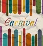 Oude kleurrijke kaart met tekst voor Carnaval-festival royalty-vrije illustratie