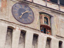 Oude klok Royalty-vrije Stock Foto's