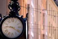 Oude Klok de stad in Royalty-vrije Stock Afbeeldingen