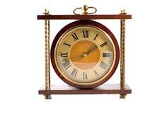 Oude klok die op wit wordt geïsoleerdi Royalty-vrije Stock Foto