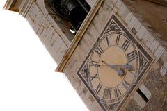 Oude klok en klokketoren in Europa Stock Foto's