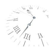 Oude klok met roman aantallen Royalty-vrije Stock Foto's
