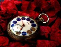 Oude klok (tijdconcept) Stock Foto's