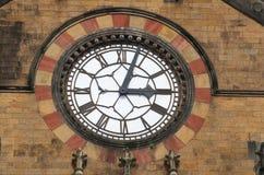 Oude klok in Victoria Terminus Stock Afbeeldingen