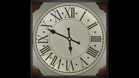 Oude klokken 12 uren die snelheidsanimatie in werking stellen vector illustratie