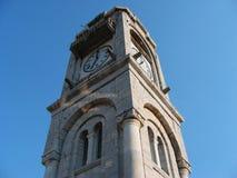 Oude klokketoren bij Dimitsana-stad in de Peloponnesus Griekenland Royalty-vrije Stock Foto