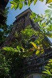 Oude klokketoren onder de bomen Royalty-vrije Stock Foto