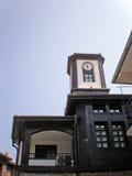 Oude klokketoren in oude stad Royalty-vrije Stock Afbeeldingen