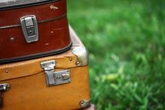 Oude koffers Stock Afbeeldingen