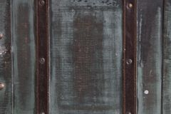 Oude koffers Blauwe retro koffer royalty-vrije stock foto