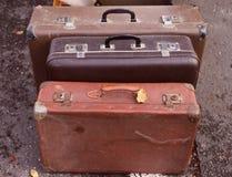 Oude koffers royalty-vrije stock fotografie