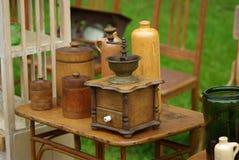 Oude koffiemolen Royalty-vrije Stock Afbeeldingen