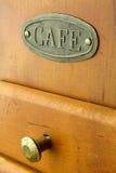 Oude koffiemolen bruin in kleur Stock Afbeeldingen