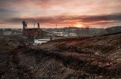 Oude kolenmijn Stock Foto's