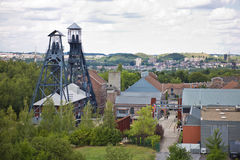 Oude kolenmijn dichtbij Charleroi, België royalty-vrije stock foto