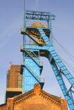 Oude kolenmijnschacht Royalty-vrije Stock Foto's