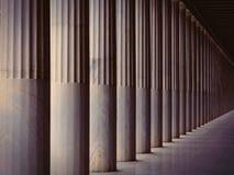 Oude kolommen in Griekenland royalty-vrije stock foto