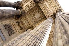 Oude kolommen in Parijs Stock Foto