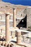 Oude kolommen van Akropolis Royalty-vrije Stock Foto