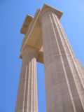 Oude kolommen van Griekse tempel Royalty-vrije Stock Fotografie