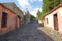 Oude Koloniale straat Royalty-vrije Stock Foto