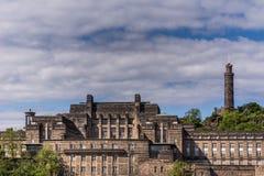 Oude Koninklijke Middelbare school, Edinburgh, Schotland, het UK stock afbeeldingen