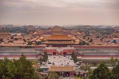 Oude koninklijke paleizen van de Verboden Stad in Peking, China royalty-vrije stock afbeeldingen