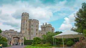 Oude koninklijke woonplaats, Windsor Castle stock footage