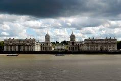 Oude Koninklijke ZeeUniversiteit greenwich Londen stock foto's