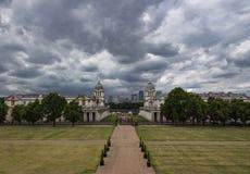 Oude Koninklijke Zeeuniversiteit van het Park van Greenwich royalty-vrije stock afbeeldingen