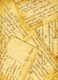 Oude kookboekachtergrond Royalty-vrije Stock Afbeelding