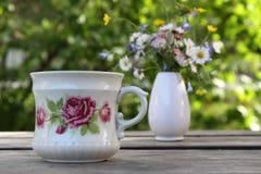 Oude kop met ros royalty-vrije stock foto's