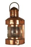 Oude koperachtige lantaarn Royalty-vrije Stock Foto's