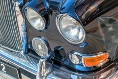 Oude koplamp van retro auto Stock Foto